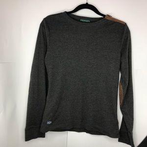 Ralph Lauren   Black Grayish Elbow Patch Shirt